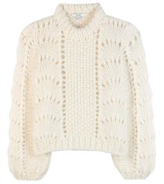 The Julliard cream mohair and wool sweater