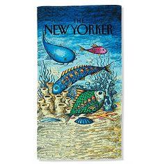 New Yorker Fish Beach Towel