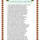 Christmas Homophones Handout - The Night Before Christmas.  Fun printable handout for December. A Christmas activity searching for homonyms and hom...