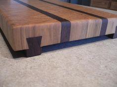 Hickory & Walnut End Grain Cutting Board