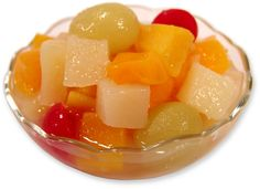 Tinned Fruit Salad served with carnation cream, every Sunday with bread & butter.