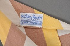 "1930's Tie // Vintage 30s Palm Beach Beau Brummel Tie 3-1/2"" from mairemcleod on Ruby Lane"