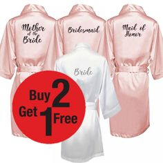 New bride bridesmaid robe with white black letters mother sister of the bride wedding gift bathrobe satin robes Bride Sister, Wedding Gifts For Bride, Bridesmaid Robes, Black Letter, Beautiful Dresses, Sisters, Free Shipping, Weddings, Fashion