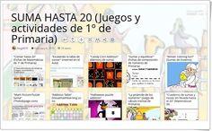 """""""10 juegos y actividades para la práctica de LA SUMA HASTA 20 en 1º de Primaria"""" Sumo, Maths Area, Teaching Resources, Learning"""