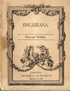 Oscariana by Oscar Wilder, 1914 (credit: Special Collections and University Archives, Stony Brook University).