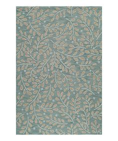 Look what I found on #zulily! Green Floral Branches Hooked Rug #zulilyfinds