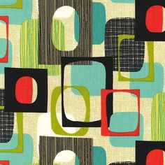 Framed by Michael Miller Fabrics  Squares  Michael by Owlanddrum, $10.50