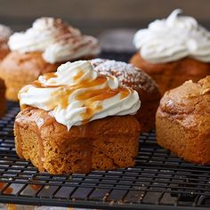 2-ingredient Pumpkin Cakes- you'll love all of our holiday ideas check them out https://www.pamperedchef.com/pws/melting/holiday-recipes