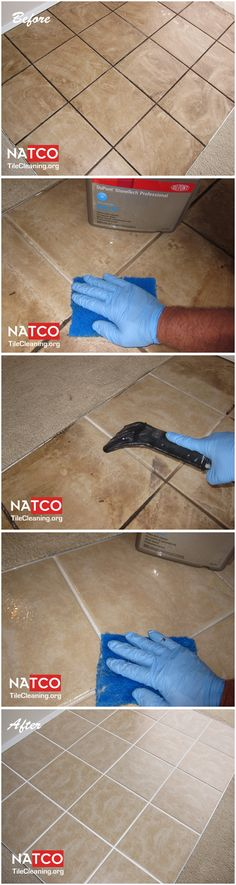 how to clean up tile grout