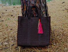Market Bag, recycled plastic woven bag.