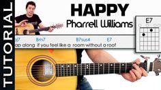 Como tocar HAPPY de Pharrell Williams en guitarra acordes cover tutorial...