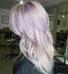 A touch of lilac for this blonde beauty pastel lilac hair, purple blonde hair, Pastel Lilac Hair, Purple Blonde Hair, Plum Hair, Blonde Hair Looks, Hair Color Purple, Platinum Blonde Hair, Purple Ombre, Pastel Blonde, Hair Colors