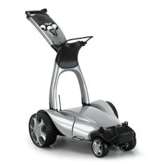 Lithium battery, remote control golf troller. Exceptional design quality with a world leading electronics system. This trolley can be controlled up to 50m away.  Made in the UK  http://www.madecloser.co.uk/sports-leisure/golf/X7-lithium-remote