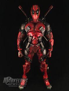 Armadura Ninja, Deadpool Pictures, Deadpool Wallpaper, Futuristic Armour, Deadshot, Suit Of Armor, Custom Action Figures, Sideshow Collectibles, Body Armor