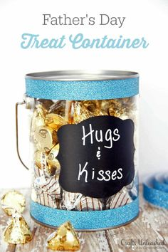 Father's Day Craft Idea: Simple Hugs & Kisses Gift