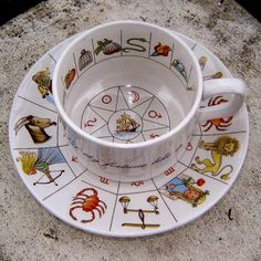 Taltos Fortune Telling tea cup and saucer - Pinned by The Mystic's Emporium on Etsy Reading Tea Leaves, Coffee Cups, Tea Cups, Happy Tea, Tea Art, Ceramic Cups, Tea Cup Saucer, High Tea, Drinking Tea