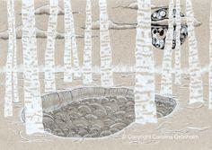 Birch Moon & Lake  #nordicdesigncollective