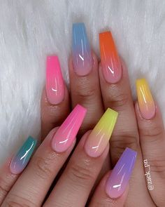 30 Casual Acrylic Nail Art Designs Ideas to Fascinate Your Admirers . - 30 casual acrylic nail art designs ideas to fascinate your admirers – – - Summer Acrylic Nails, Best Acrylic Nails, Acrylic Nail Art, Acrylic Nail Designs For Summer, Colored Acrylic Nails, Acrylic Nails Coffin Ombre, Coffin Nails Designs Summer, Acrylic Artwork, Spring Nails