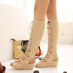 Women Gladiator Sandals Wedge Heels Shoes for Summer 2578