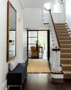 treppe flur gestalten teppich beige