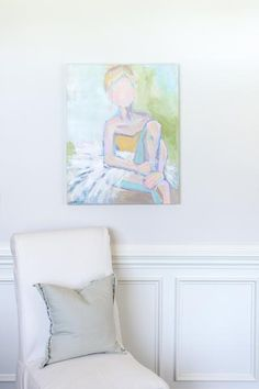 """Blushing Lady"" C. Brooke Ring, Acrylic on Canvas 24"" x 30"" x 1.5""(d)"