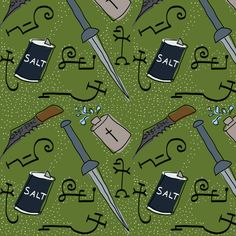Supernatural fabric by solanah on Spoonflower - custom fabric