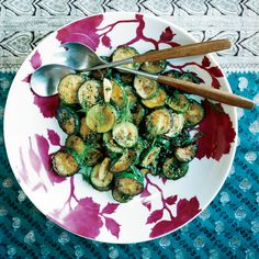 This is a light and lovely way to prepare zucchini, which gets quickly sautéed with garlic, shallots and ginger, then tossed with fresh dill. Padma L...