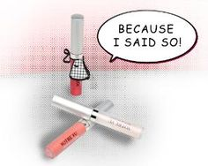 """Mom takes charge when she shines up her lip service with Votre Vu's new Lip Lustre trio.  With a few swipes of gloss, she'll show who's boss. (""""Because I Said So"""" Mother's Day Specialty Set for 2013, available through May 13 at www.votrevu.com.)"""