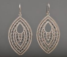 Large Leaf Earrings by Anna Beck - Silverscape Designs