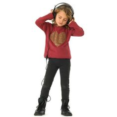 Garnet heart sweater - Yporque