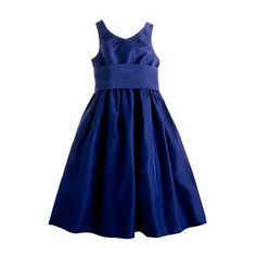 For the flower girls: Girls' silk taffeta Avery dress $168