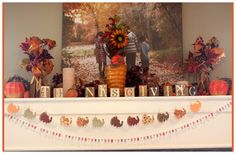 Make Your Own Thanksgiving Turkey Banner - A Sparkle of Genius