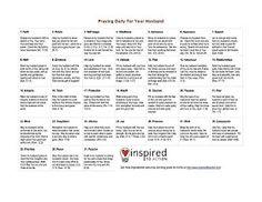 Passionate Children's Servant: Husband Prayer Calendar