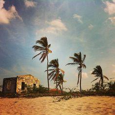 Ruins on the beach #eidon #eidonsurf #nica2013 #nicaragua #beach #sky #palmtrees #ruins #natgeo #picoftheday #instatravel #santana