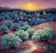 Sunny Andalusia in the artist Luis Romero Luis Romero (LUIS ROMERO) - Spanish painter, winner and participated in many international exhibitions, born in Ronda, Malaga Province, on the magnificent Mediterranean coast of Costa delta Sol (Costa del Sol). Spanish Painters, Spanish Artists, Night Scenery, Naive Art, Pablo Picasso, Spray Painting, New Artists, Painting Techniques, Photos
