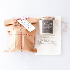 Gift 4 oz Soy Candle in a glass jar in a cotton by TOKYOFACTORY, $13.00