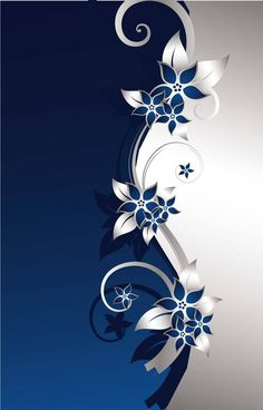 Flowers,blue,Silver,romantic,poster,background,AI,Vector material,HD background design,Creative Flowers,sad,black