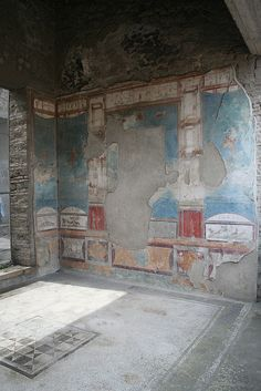 House of the Ancient Hunt, Pompeii.  Notice the pattern on the floor looks like a quilt pattern. Cool!