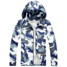 >> Click to Buy << 2015 Fashion High Quality Men Jacket Coats, Male Causal Hooded Camouflage Jacket, Thin Windbreaker Zipper Outwear #Affiliate