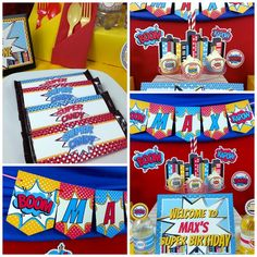 Amazing Superhero Birthday Party!  See more party ideas at CatchMyParty.com!
