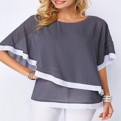 SIZE(CM)                              S                              M                              L                              X                L                              2XL                              3XL                              4XL                              5XL                                                   After long                                    67                              68                              69                              70 Trendy Tops For Women, Blouses For Women, Looks Plus Size, Summer Blouses, Chiffon Shirt, Plus Size Blouses, Ladies Dress Design, Shirt Blouses, Casual Shirts