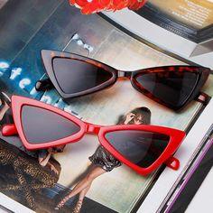 LongKeeper Vintage Women Sunglasses Triangle Black Ladies Sunglass Retro Red Color Eyewear Gradient Lens Glasses Gafas de sol