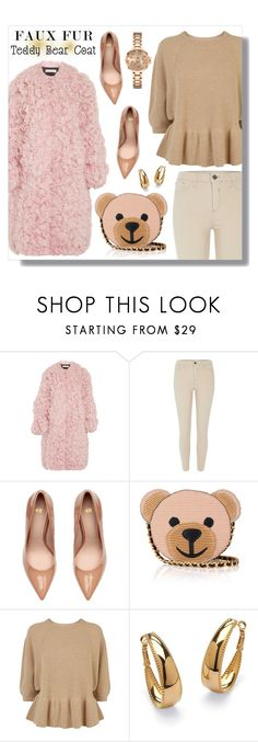 """""""fuzzy pink coat"""" by linlizzy ❤ liked on Polyvore featuring Marni, River Island, Moschino, RED Valentino, Palm Beach Jewelry, Kate Spade, Winter, 2017 and fuzzycoats"""