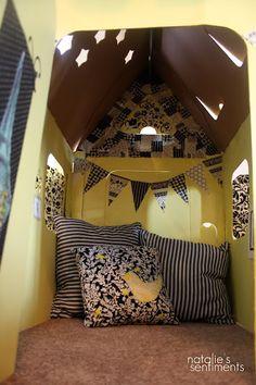 cardboard playhouse... so cute!
