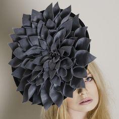 Dahlia - Carrie Jenkinson Millinery #fascinators #bespokefascinators #hats #headwear #milliners #millinery