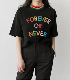 f830cbacdcab9 Forever Or Never T Shirt (2 Colors) Casual Tops