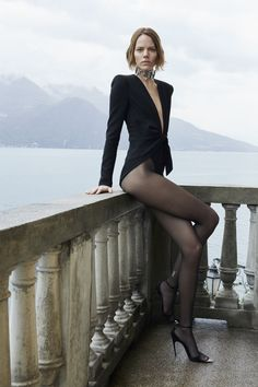Saint Laurent Spring/Summer 2019 campaign with Freja Beha Erichsen bodysuit