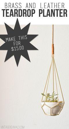 38 macrame diy plant hanger tutorials hanging pots - Savvy Ways About Things Can Teach Us Diys, Do It Yourself Baby, Diy Casa, Diy Planters, Hanging Planters, Succulent Hanging Planter, Brass Planter, Succulent Terrarium, Crafty Craft