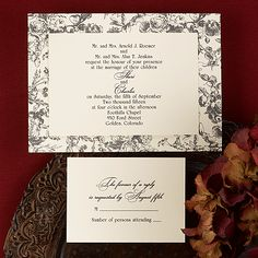 Relaxing Florals (Invitation Link - http://occasionsinprint.carlsoncraft.com/Weddings/Invitations/3124-BSN8785-Floral-Background--Invitation.pro)