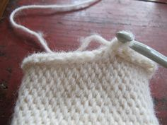 A crochet stitch that looks like knit - Shepherds knitting